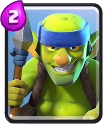 Carta Goblins com lança de Clash Royale - Cards Wiki