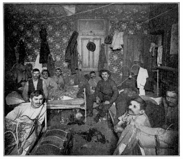 Tenement room in 20th century New York