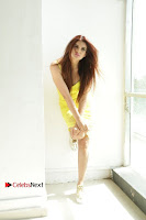 Actress Model Ihana Dhillon Poshoot Gallery in Yellow Lace Short Dress  0012.jpg
