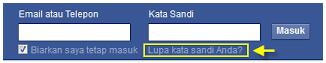lupa kata sandi facebook tanpa reset