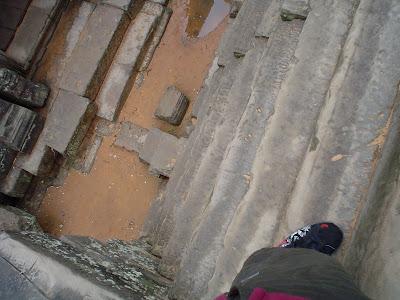 Escadas Templos de Angkor - Camboja