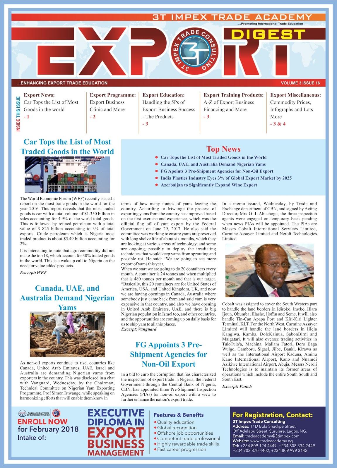 Exporters List
