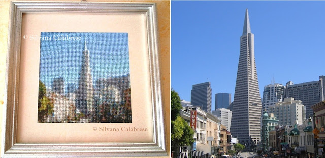 Transamerica Pyramid embroidered cross-stitch Loving san Francisco