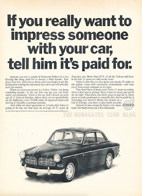 "Classic VOLVO ad. ""If you really want to impress someone..."""