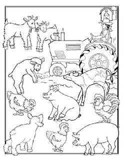 More Farming Animal Coloring Pages Online Free Download