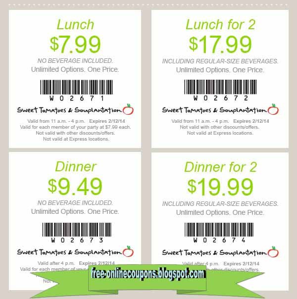 photo regarding Souplantation Printable Coupons identified as Souplantation 2018 coupon codes - Hectic Coupon codes