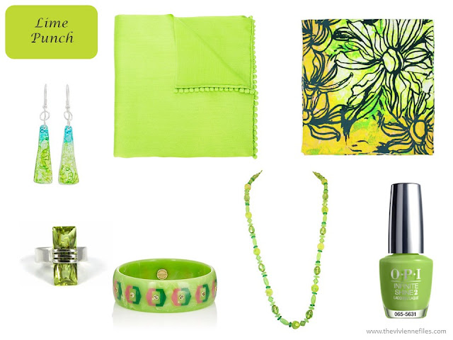 Lime Punch accessories from Pantone Spring 2018 colors