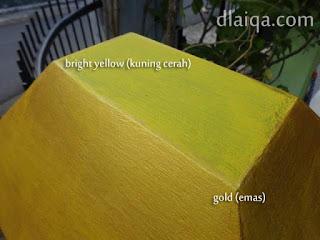 sesi ketiga - aplikasi cat warna emas