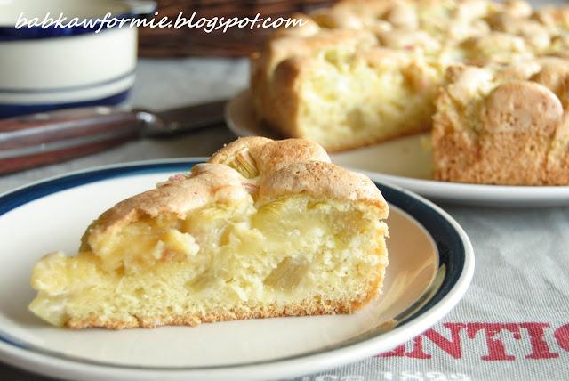 słodkie wypieki i desery przepis na ciasto ucierane z rabarbarem babkawformie.blogspot.com