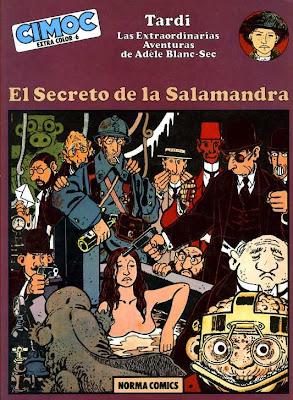El secreto de la salamandra / Portada