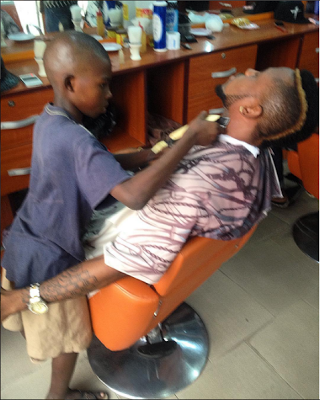 10 year old barber