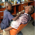Unbelievable!!! 10 year old Nigerian barber who makes N5,000 daily