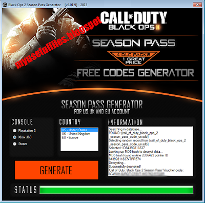 Black Ops 2 Season Pass Code Generator Preview