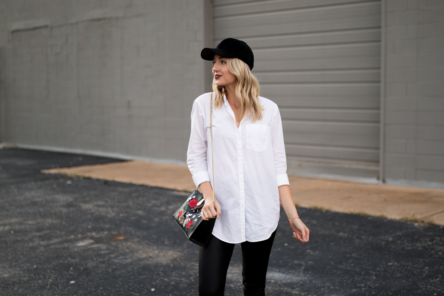 Casual way to style a white button-down