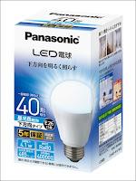 パナソニック LED電球 口金E26 電球40W形相当 昼光色相当(4.1W) 一般電球・下方向タイプ  LDA4DHEW2