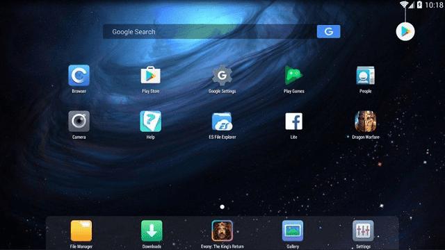 Nox adalah emulator android dengan tampilan yang sangat bagus dan indah
