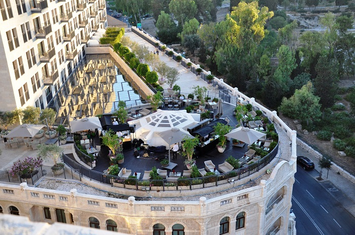The Waldorf Astoria Jerusalem Garden Terrace (photo: Dana Caspi)
