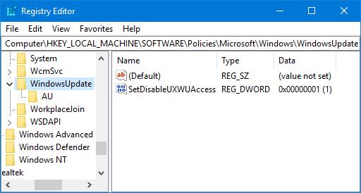 Menonaktifkan tombol Check for Updates di windows 10-gambar 3