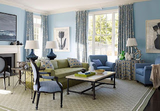 Sky Blue Living Room Design Ideas