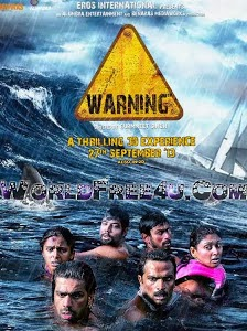 Poster Of Bollywood Movie Warning (2013) 300MB Compressed Small Size Pc Movie Free Download worldfree4u.com