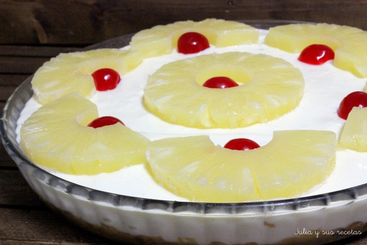 Julia y sus recetas tarta de queso crema leche - Postres con queso de untar ...