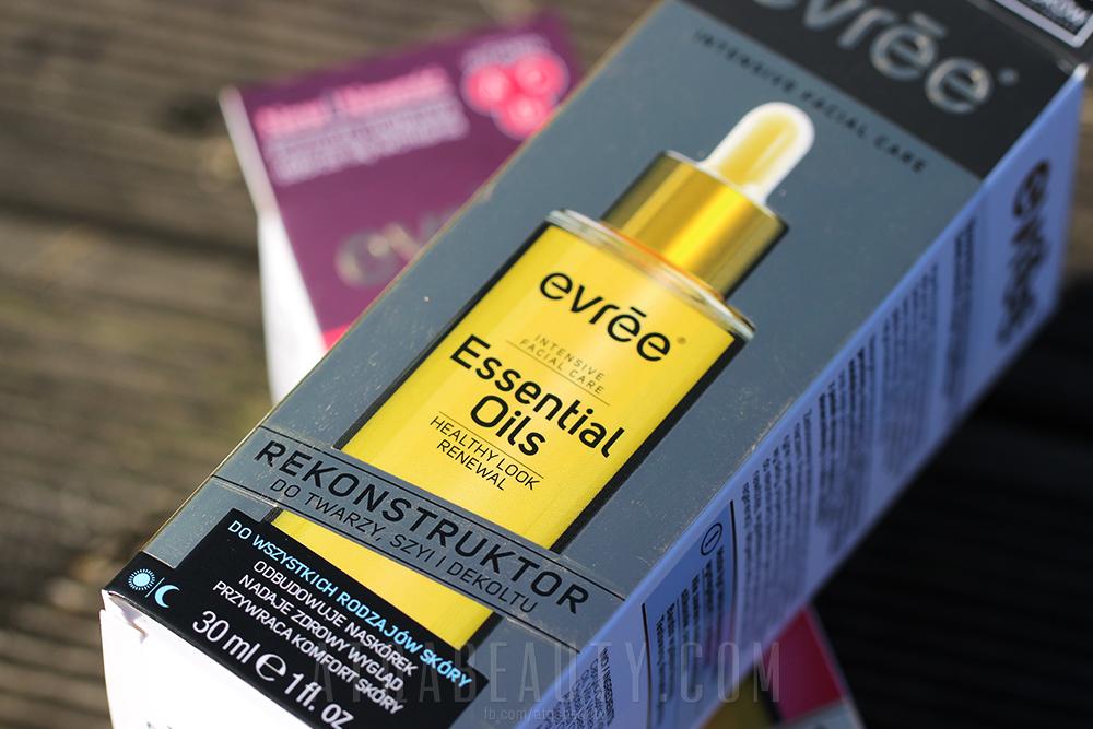 evrēe®, Essential Oils, Olejek do twarzy, szyi i dekoltu