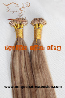 virgin remy V tip hair extensions