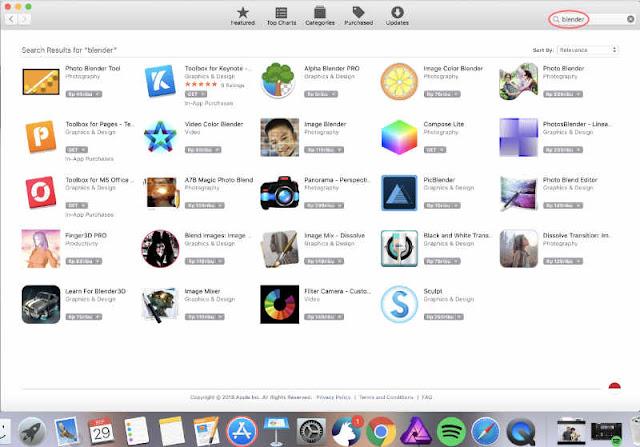 Blender nggak ada di App Store