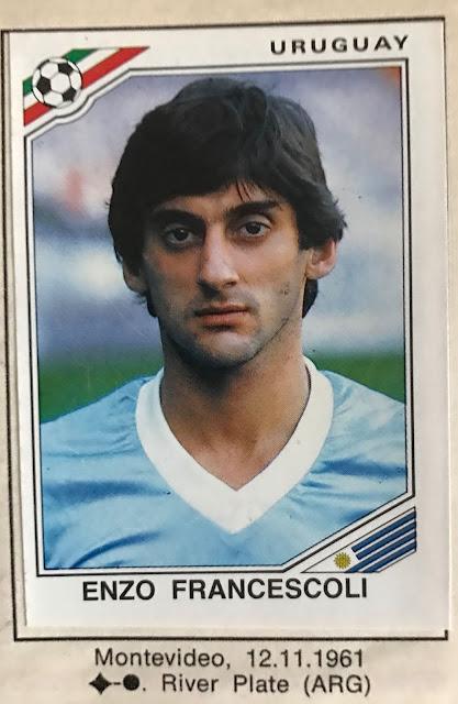 Enzo Francescoli Panini Messico 1986