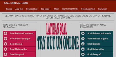 Latihan Soal Try Out UN Online SD SMP SMA
