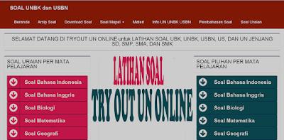 Latihan Soal Try Out UN Online SD SMP SMA