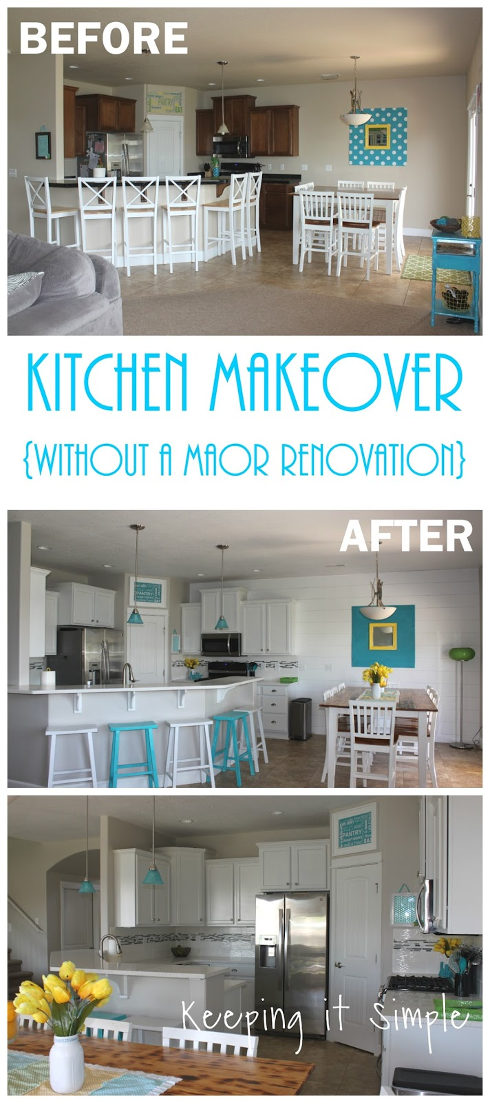 Simple Kitchen Makeover Ideas keeping it simple: kitchen makeover ideas without a major renovation