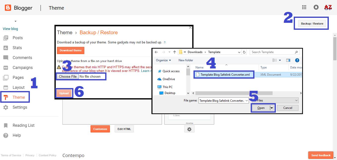 Cara TERBARU Membuat Safelink Blogspot 100% WORK