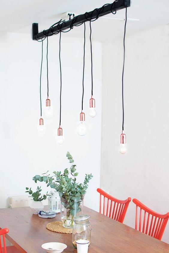 Bombillas vistas para decorar tu comedor