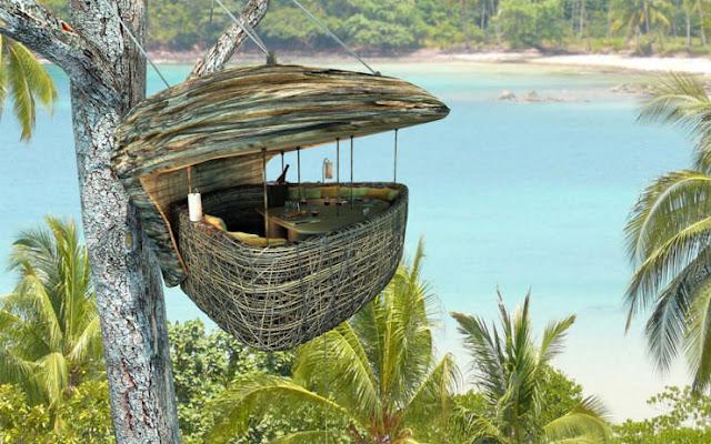 شاهد صور 29 منزل فوق الأشجار سيعجبك أن تعيش بها  Top-29-Treehouses-Bird%25E2%2580%2599s-Nest-Restaurant-Thailand-740x462