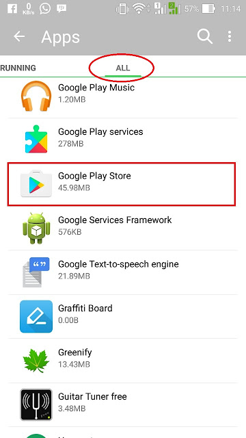 cara keluar log out akun google play store
