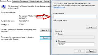 Isiskan Nama komputer yang ingin anda masukkan pada kolom Computer Name, lalu OK. Komputer akan minta restart, jika tidak ada pekerjaan yang berarti pada komputer silahkan pilih Restart Now.