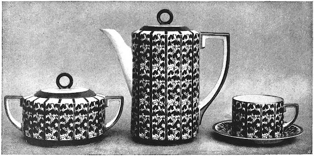 E.M. Margold 1916 coffee set, a photograph