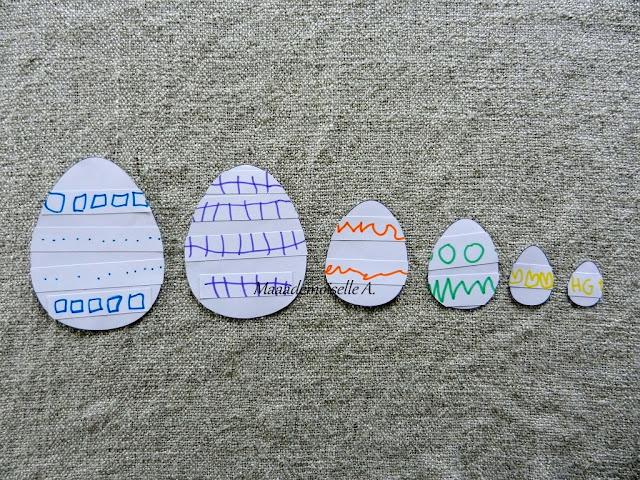 || Nos activités de Pâques collages oeufs graphiques
