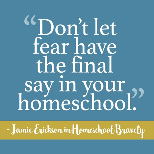 Don't let fear have the final say in your homeschool. #Homeschool #homeschool bravely