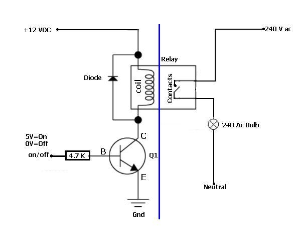 12v relay switch 240v