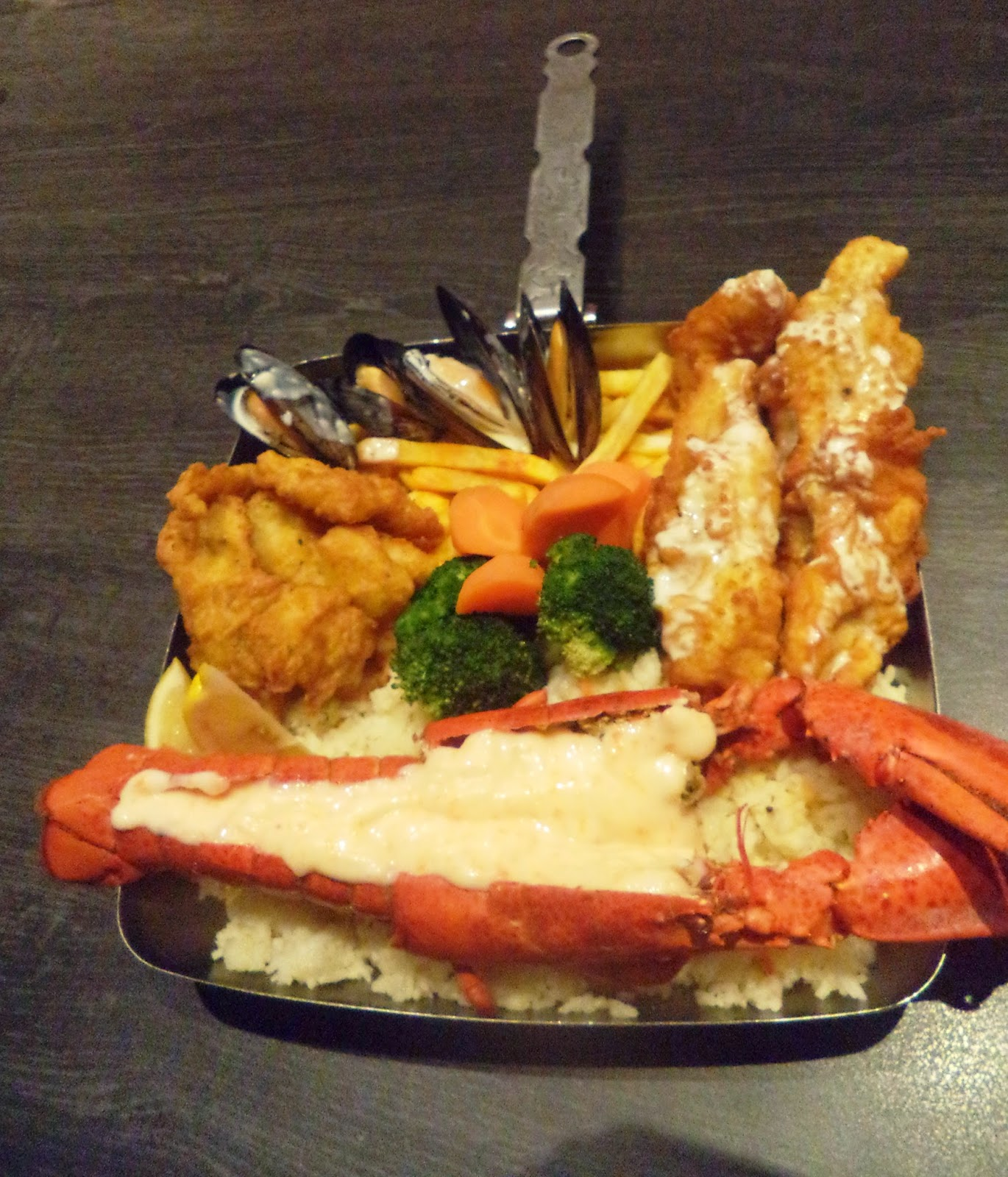 Canadian Lobster Platter  with Ebiko flaming sauce