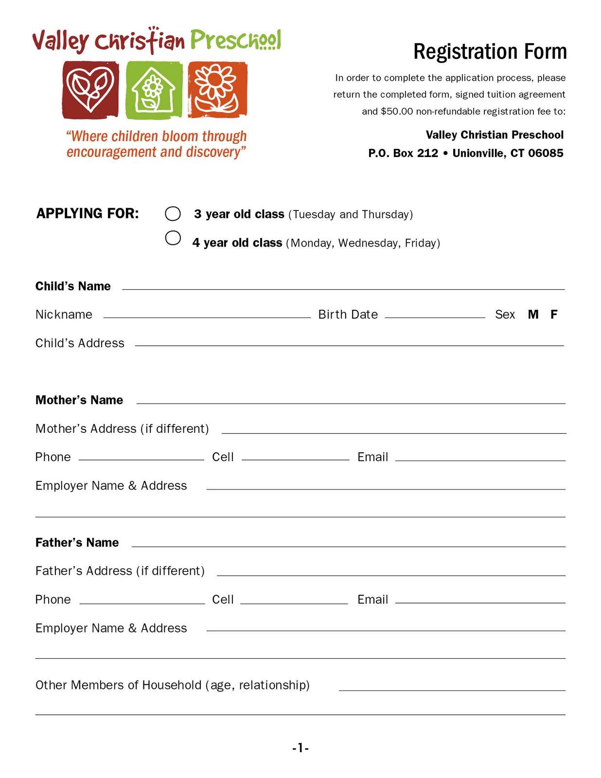 valley christian preschool download a registration form. Black Bedroom Furniture Sets. Home Design Ideas