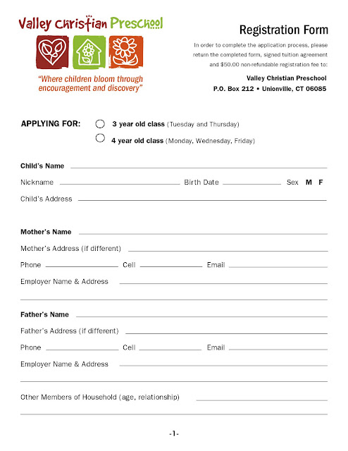 Registration Form   Two Pages (3u0027s And 4u0027s):  Download Registration Form Template