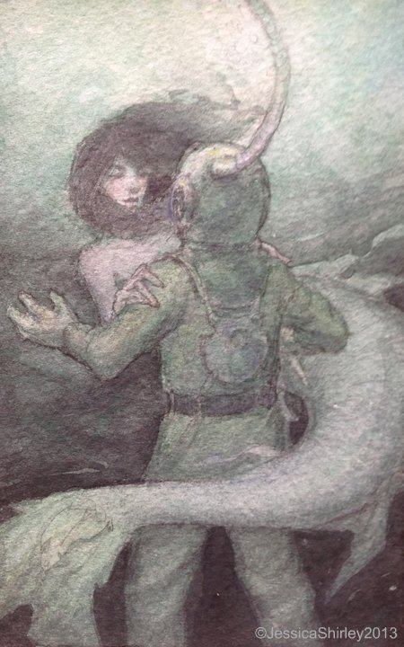 Jessica Shirley Illustration The Mermaid And The Deep Sea