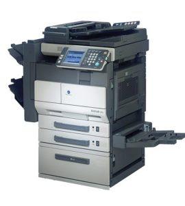 sheets newspaper capacity alongside an optional  Konica Minolta Bizhub 250 Driver Downloads