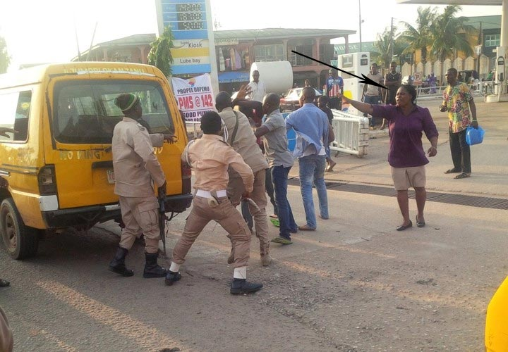 Immigration officers beat up commercial bus driver for bashing female officer's car