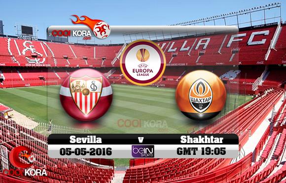 مشاهدة مباراة إشبيلية وشاختار دونيتسك اليوم 5-5-2016 في الدوري الأوروبي