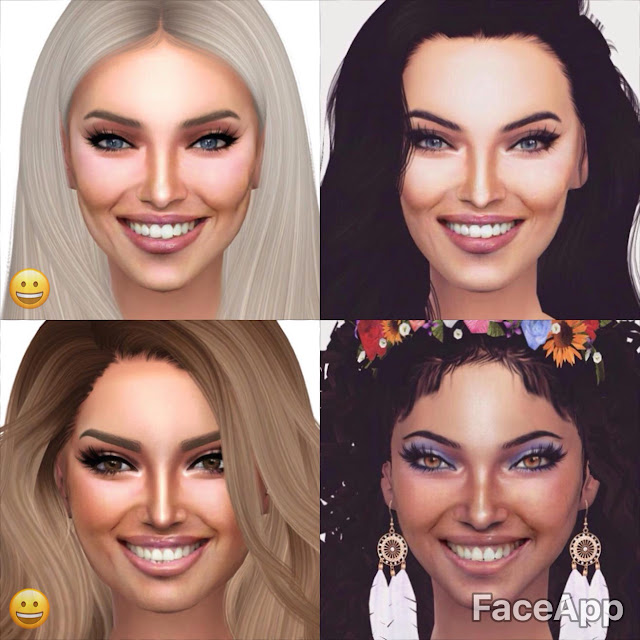 megan fox the sims 4 faceapp