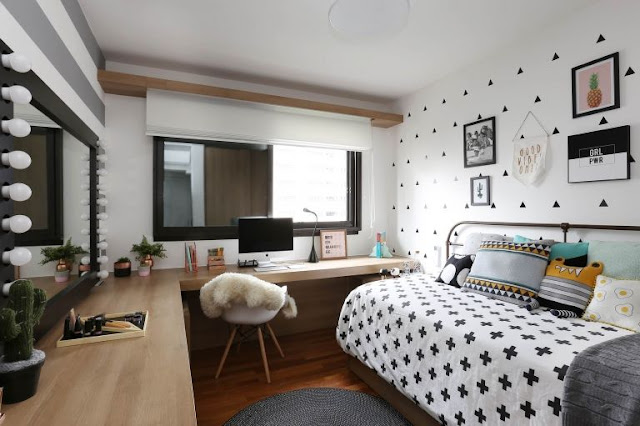 quarto-filha-decoracao-preto-e-branco